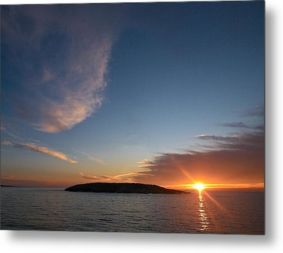 Metal Print featuring the photograph Variations Of Sunsets At Gulf Of Bothnia 2 by Jouko Lehto
