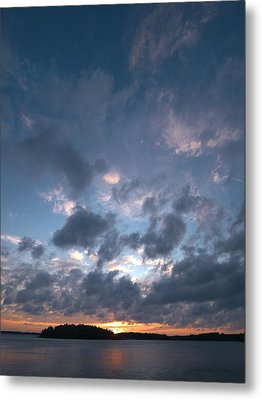 Metal Print featuring the photograph Variations Of Sunsets At Gulf Of Bothnia 5 by Jouko Lehto