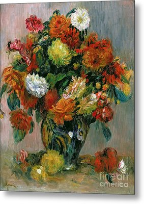 Vase Of Flowers Metal Print by Pierre Auguste Renoir