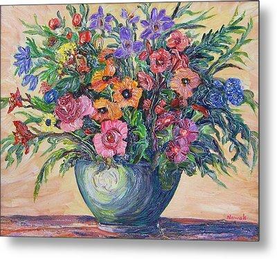 Vase Of Flowers Metal Print by Richard Nowak