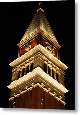Metal Print featuring the photograph Vegas At Nite by Maggy Marsh