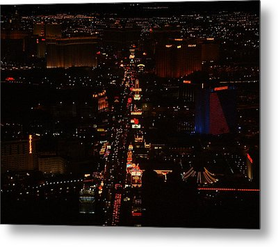 Vegas Strip Metal Print by D R TeesT