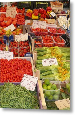 Vegetables At Italian Market Metal Print by Carol Groenen