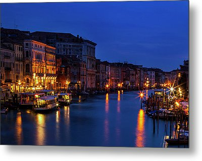Metal Print featuring the photograph Venetian Blue by Andrew Soundarajan