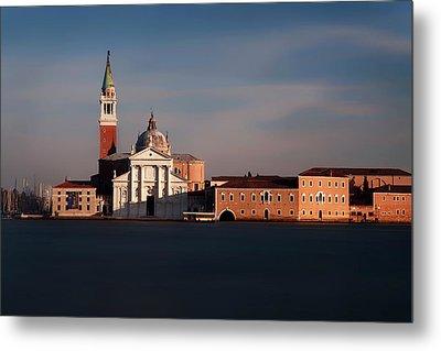 Venetian View At Dusk Metal Print by Andrew Soundarajan