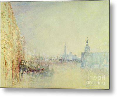 Venice - The Mouth Of The Grand Canal Metal Print by Joseph Mallord William Turner