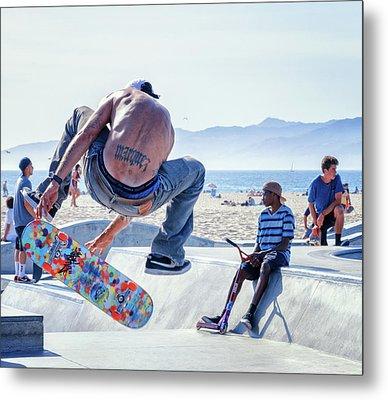 Venice Beach Skater Metal Print