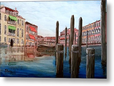 Venice Canal Metal Print by Irving Starr