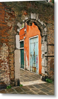 Venice Passage Metal Print by Art Ferrier