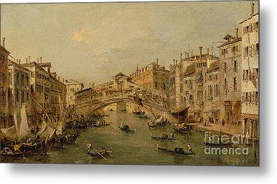 Venice  The Rialto Metal Print