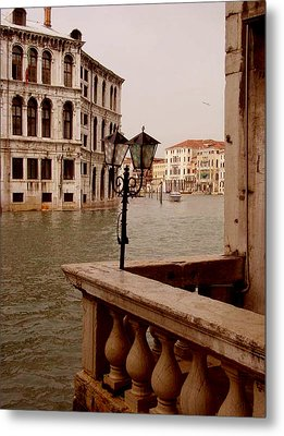 Metal Print featuring the photograph Venice Waterway by Nancy Bradley