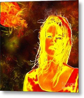 Venus Is Home Metal Print by Methune Hively