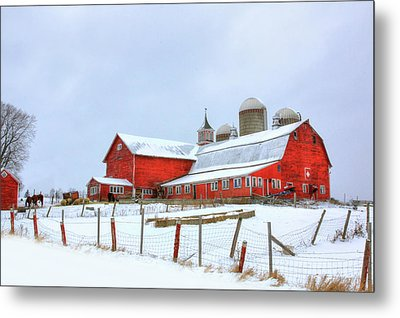 Metal Print featuring the digital art Vermont Barn by Sharon Batdorf
