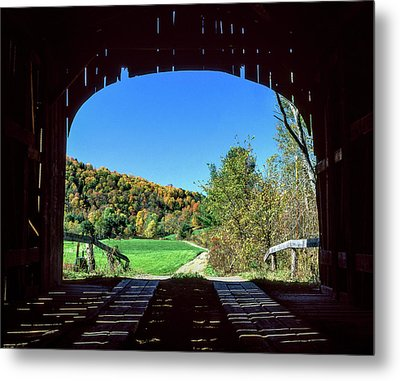 Vermont Covered Bridge Metal Print