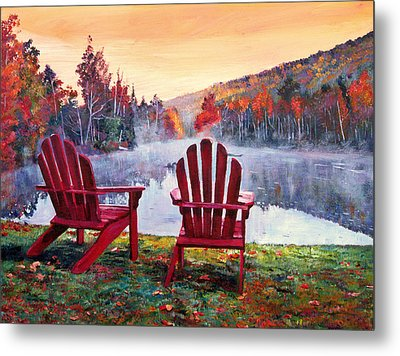 Vermont Romance Metal Print by David Lloyd Glover