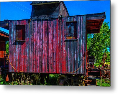 Very Old Worn Caboose Metal Print by Garry Gay