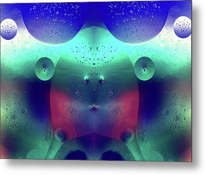 Metal Print featuring the photograph Vibrant Symmetry Oil Droplets by John Williams