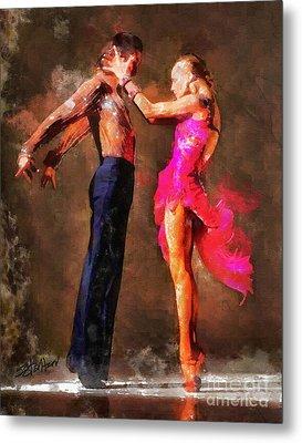 Vibrant Tango Metal Print by Shirley Stalter