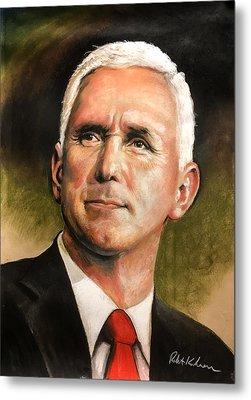 Vice President Mike Pence Portrait Metal Print by Robert Korhonen