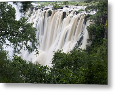 Victoria Falls Waterfall Framed Metal Print by Roy Toft