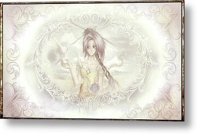 Metal Print featuring the mixed media Victorian Princess Altiana by Shawn Dall