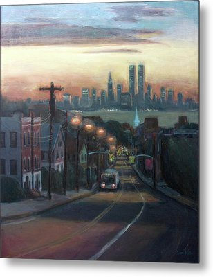 Victory Boulevard At Dawn Metal Print