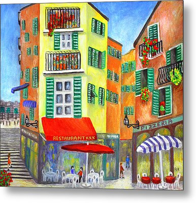 Vieille Ville - Nice Metal Print by Ronald Haber