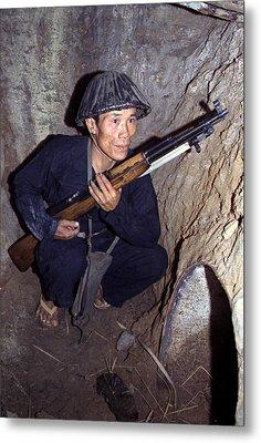 Vietnam War, A Viet Cong, Soldier Metal Print by Everett