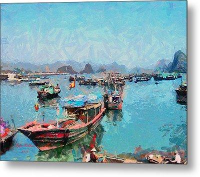 Vietnamese Fishermen Metal Print by Tyler Robbins