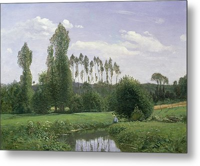 View At Rouelles Metal Print by Claude Monet