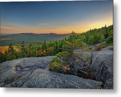View At Sunset From Tumbledown Mountain Metal Print