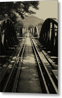 View From A Bridge - River Kwai Metal Print by Kelly Jones