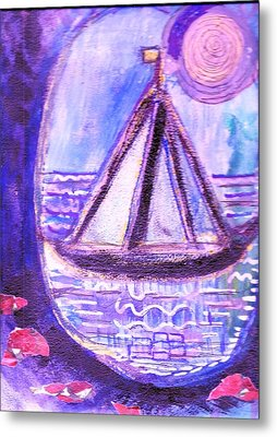 View From A Cavern In The Sea Metal Print by Anne-Elizabeth Whiteway