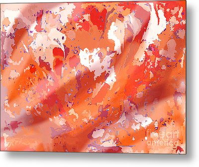 View From Above In Orange Metal Print