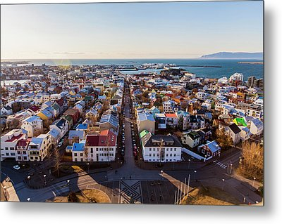 View From Hallgrimskirka Metal Print by Wade Courtney