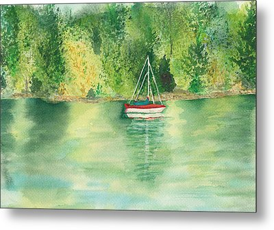 Metal Print featuring the painting View From Millbay Ferry by Vicki  Housel
