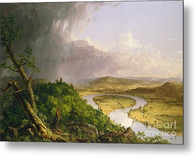 View From Mount Holyoke, Northampton, Massachusetts, After A Thunderstorm The Oxbow, 1836 Metal Print by Thomas Cole