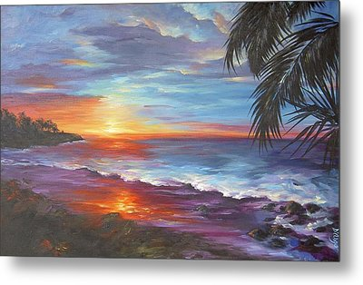 Metal Print featuring the painting View From The Hammock  by Dina Dargo