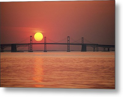 View From The Water Of The Chesapeake Metal Print by Kenneth Garrett