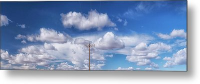 View Of A Phone Pole Metal Print