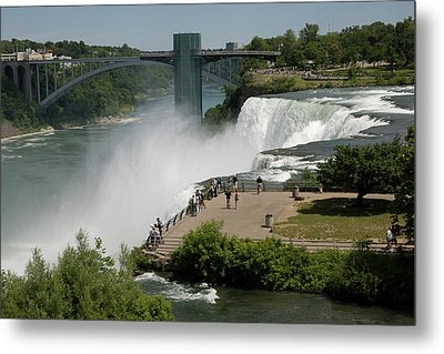 Metal Print featuring the photograph View Of American Niagara Falls by Jeff Folger