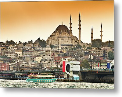 View Of Istanbul Metal Print by (C) Thanachai Wachiraworakam