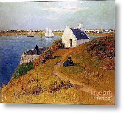 View Of Lorient In Brittany Metal Print by Henry Moret