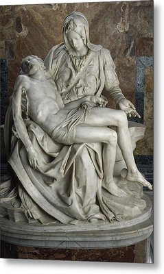 View Of Michelangelos Famous Sculpture Metal Print