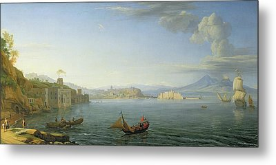 View Of Naples Metal Print by Adrien Manglard