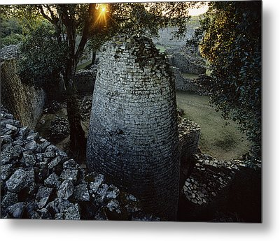 View Of The 8th Century Conical Tower Metal Print by James L. Stanfield