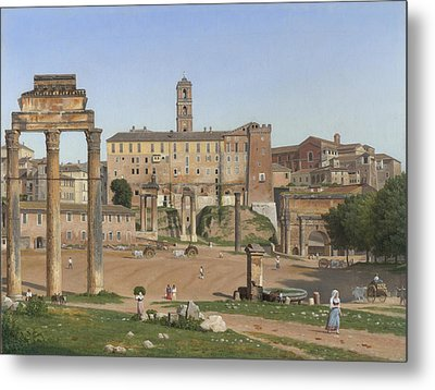 View Of The Forum In Rome Metal Print
