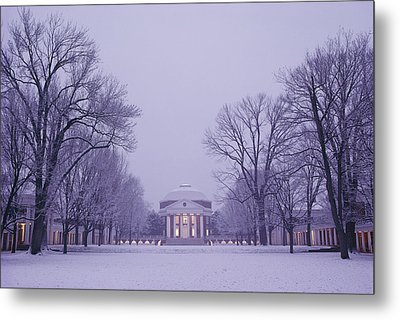 View Of The University Of Virginias Metal Print