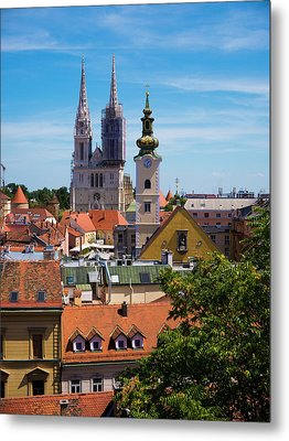 View Of Zagreb Metal Print by Rae Tucker