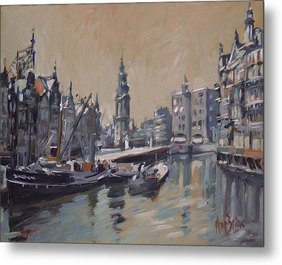 View To The Mint Tower Amsterdam Metal Print